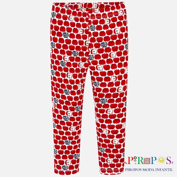 Leggings estampado niña rojo front
