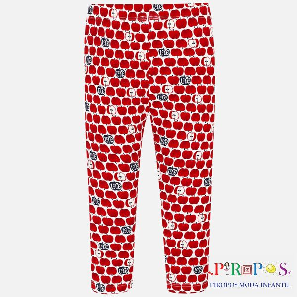 Leggings estampado niña rojo back